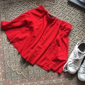 Zara Red Skater Skirt A Line